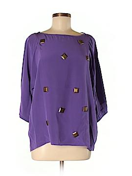 Tibi 3/4 Sleeve Silk Top Size M