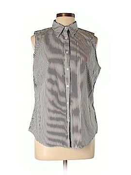 Lauren by Ralph Lauren Sleeveless Button-Down Shirt Size L