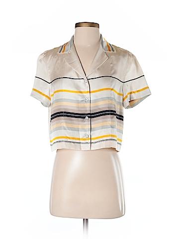 Rag & Bone Short Sleeve Silk Top Size S