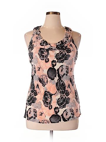 INC International Concepts Sleeveless Silk Top Size 14
