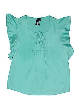 Willi Smith Short Sleeve Blouse Size S