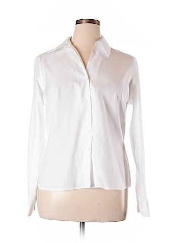 Evan Picone Long Sleeve Button-Down Shirt Size 16