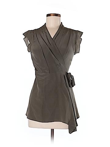 Fei Short Sleeve Silk Top Size 6