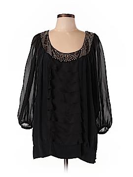 Hannah Jo 3/4 Sleeve Silk Top Size L