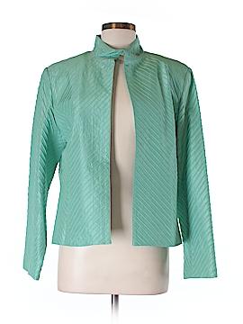 SILK CLUB COLLECTION Silk Blazer Size M