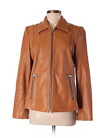 MICHAEL Michael Kors Leather Jacket Size M