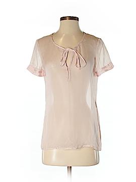 Emporio Armani Short Sleeve Silk Top Size 6