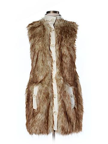Rachel Zoe Faux Fur Vest Size 8