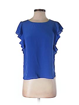 Daniel Rainn Short Sleeve Silk Top Size XS (Petite)