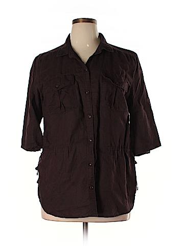 Eddie Bauer Short Sleeve Button-Down Shirt Size XL