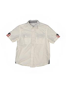 Paper Denim & Cloth Short Sleeve Button-Down Shirt Size 5