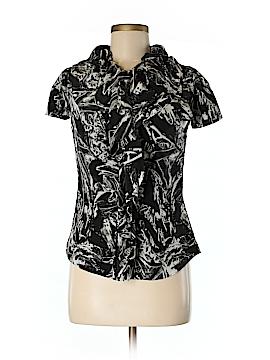 Brian Reyes Short Sleeve Silk Top Size 6