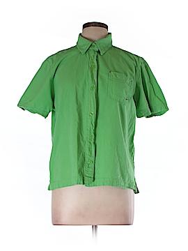Erika Short Sleeve Button-Down Shirt Size L