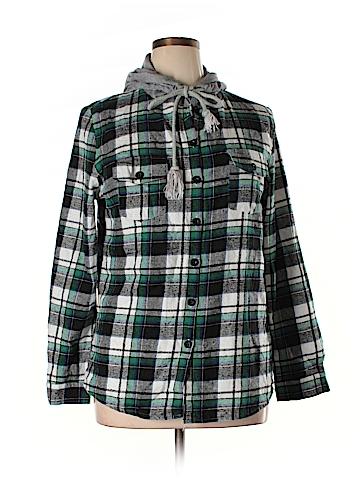 Allegra K Long Sleeve Button-Down Shirt Size XL
