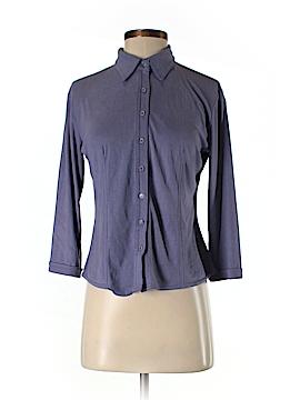 Fashion Bug Long Sleeve Button-Down Shirt Size S