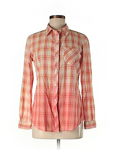 Great Northwest Indigo Long Sleeve Button-Down Shirt Size M