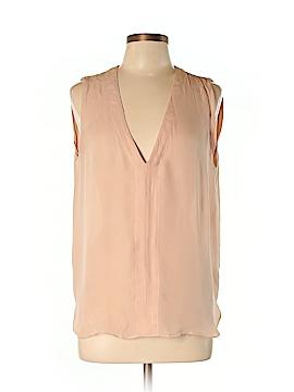 A.L.C. Short Sleeve Silk Top Size L