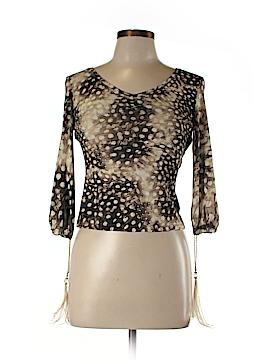 Roberto Cavalli 3/4 Sleeve Top Size M
