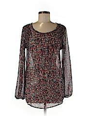 Bobeau Women Long Sleeve Blouse Size M