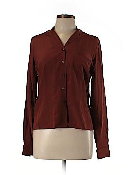Evan Picone Long Sleeve Silk Top Size 8