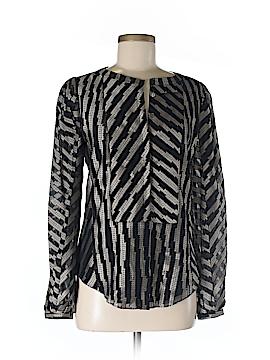 Brian Reyes Long Sleeve Silk Top Size 6