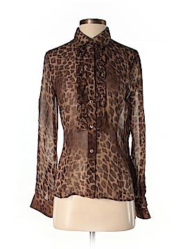 Les Copains Long Sleeve Silk Top Size 11