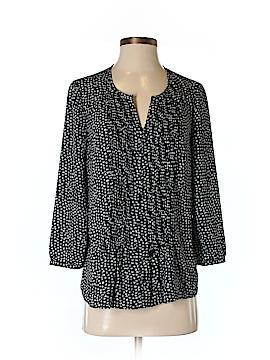 Black Saks Fifth Avenue 3/4 Sleeve Blouse Size XS