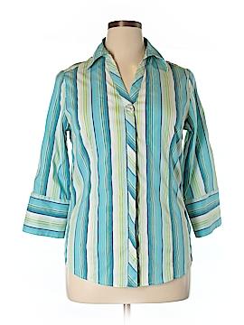 Ashley Stewart 3/4 Sleeve Button-Down Shirt Size 14W