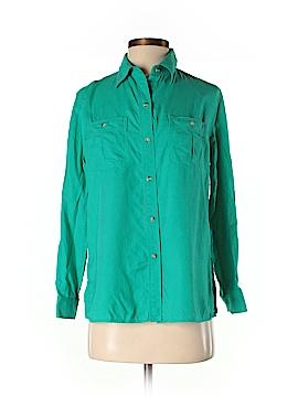 Lizwear by Liz Claiborne 3/4 Sleeve Silk Top Size S