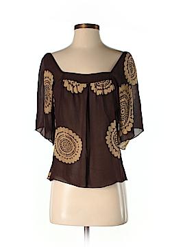 Trina Turk Short Sleeve Silk Top Size 5