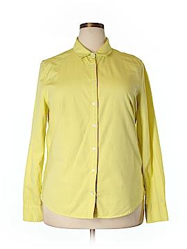 Lands' End Long Sleeve Button-Down Shirt Size 18 (Plus)