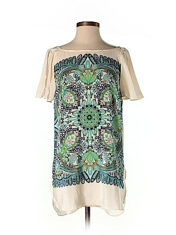 Maeve Short Sleeve Silk Top Size S