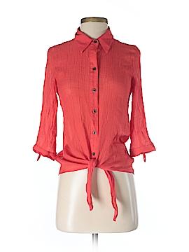 BCX 3/4 Sleeve Button-Down Shirt Size S
