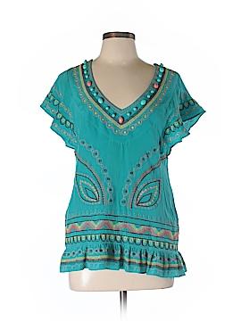 Nanette Lepore Short Sleeve Silk Top Size M