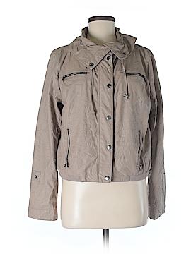 Ellen Tracy Women Faux Leather Jacket Size M