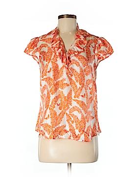 Elizabeth McKay Short Sleeve Silk Top Size 4