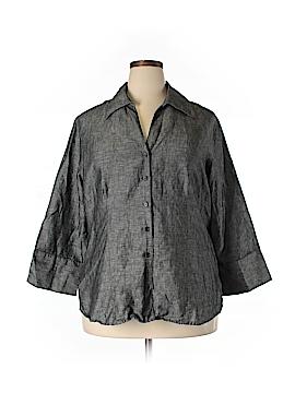 Harve Benard Long Sleeve Blouse Size 1X (Plus)