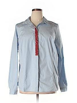 Eloquii 3/4 Sleeve Button-Down Shirt Size 22 (Plus)