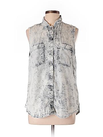 Dittos Sleeveless Button-Down Shirt Size L