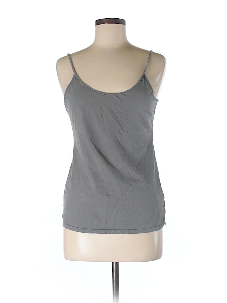 2dfa58215239d5 Norma Kamali for Walmart 100% Cotton Solid Gray Tank Top Size M - 77 ...
