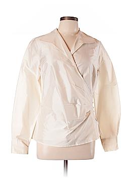 Ellen Tracy Long Sleeve Silk Top Size 10