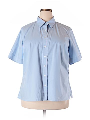 Lands' End Short Sleeve Button-Down Shirt Size 20 (Plus)