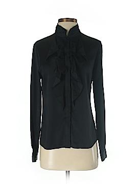 Elie Tahari Long Sleeve Silk Top Size S (Petite)