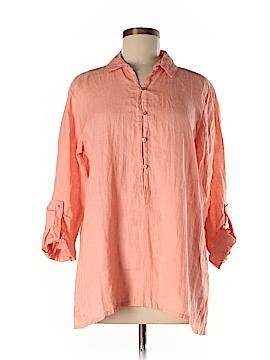 Eileen Fisher 3/4 Sleeve Button-Down Shirt Size XS
