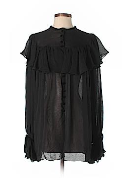 Oscar De La Renta Long Sleeve Silk Top Size 6