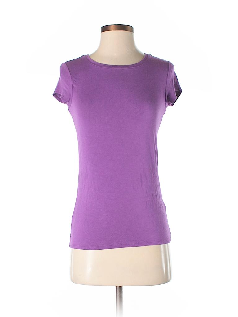 Tahari Women Short Sleeve T-Shirt Size S