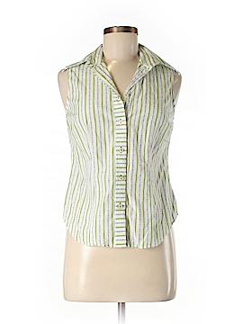 H Hilfiger Sleeveless Button-Down Shirt Size 6