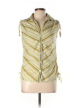 Jazzie Sleeveless Button-Down Shirt Size L