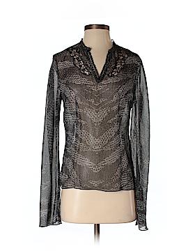 Kenar Long Sleeve Silk Top Size XS