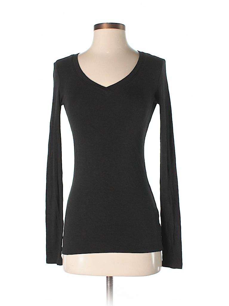 Cynthia rowley for t j maxx solid black long sleeve t for Tj maxx t shirts